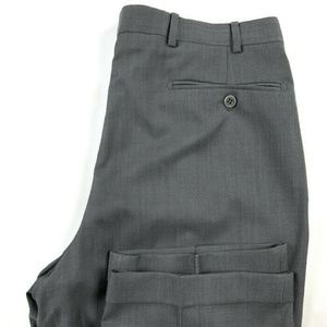 Zanella Bennett Gray Pleated Career Dress Pants